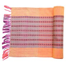 Katherine Cotton Table Runner in Orange
