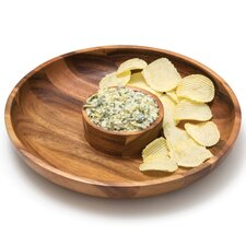 Acacia Chip & Dip Platter in Natural