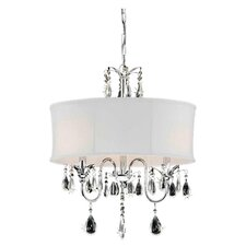 Rogue 3 Light Crystal Chandelier in White