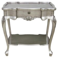 Dauphine Console Table in Silver Leaf