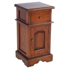 Sleigh 1 Drawer Bedside Table in Mahogany
