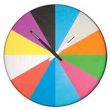 Kikkerland Ultra Flat Rainbow Clock