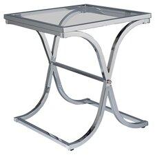 Logan End Table in Chrome