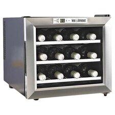 Silent 12 Bottle Wine Refrigerator in Stainless Steel