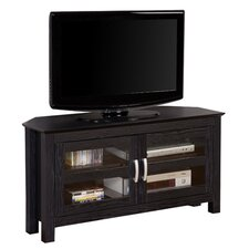 "Castillo 44"" Corner TV Stand in Black"