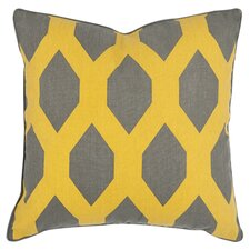 Allen Throw Pillow in Gray & Yellow