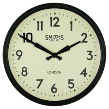 Smiths Wall Clock in Black