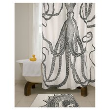 Thomas Paul Octopus Shower Curtain in Charcoal