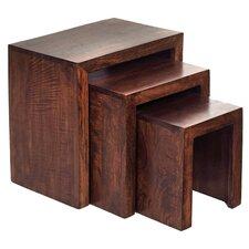 Mango Toko 3 Piece Nest of Tables II in Dark Walnut