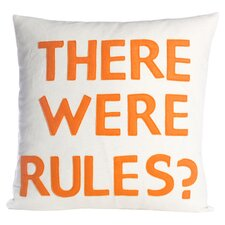 There Were Rules Throw Pillow in Cream & Orange