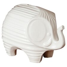 Elephant Piggy Bank in White