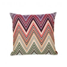 Kew Throw Pillow in Pink & Green
