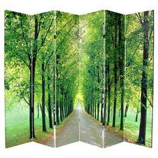 Path of Life Reversible 6 Panel Room Divider in Green