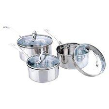 Aspire 6 Piece Saucepan Set in Silver