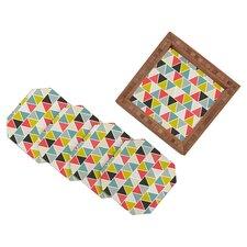 Heather Dutton Triangulum 5 Piece Coaster Set