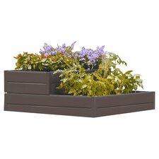 Suncast 2 Tier Garden Bed Planter in Chocolate