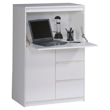 Aspen Hideaway Desk in White