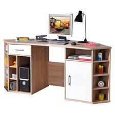 Vasto Writing Desk in Oak & White