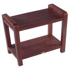 Lakeview Teak Bench Shelf in Golden Brown