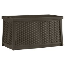 Suncast Peak Deck Storage Box in Chocolate