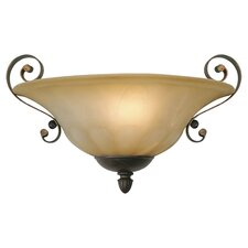 Colonel 1 Light Wall Sconce in Leather Crackle
