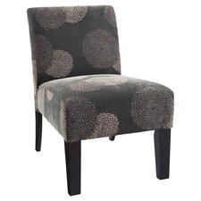 Deco Sunflower Slipper Chair in Gray