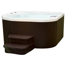 Sierra Deluxe Plug & Play 5 Person Spa in Brown