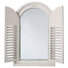 Shutter Mirror in Aged Cream