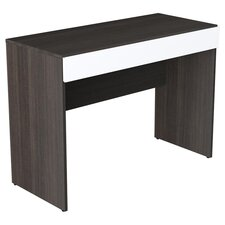 Allure Computer Desk in Ebony & White