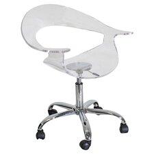Hervey Office Chair in Clear Acrylic