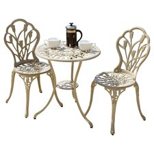 Bradley 3 Piece Bistro Set in Sand