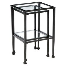 Thorndike 2 Piece Nesting Table Set in Black