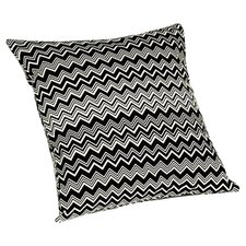 Tobago Throw Pillow in Black & White