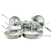 All-Clad Copper Core 14 Piece Cookware Set in Stainless Steel