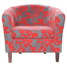 Orlando Arm Chair in Red
