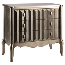 Norwalk 3 Drawer Chest in Champagne