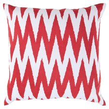 Eye-Catching Chevron Throw Pillow in Strawberry Red & White