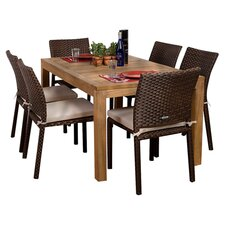 Amazonia Brownsville 7 Piece Dining Set in Brown