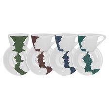 Face Vase Espresso Cup & Saucer Set