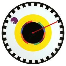 Sprocket Clock in Yellow