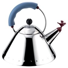 Signature Whistle Tea Kettle in Steel & Blue