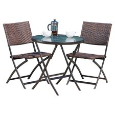Narobi 3 Piece Bistro Set in Brown