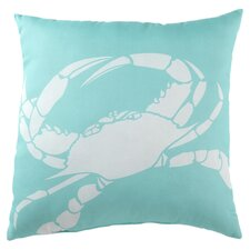 Lava Granchio Throw Pillow in Blue