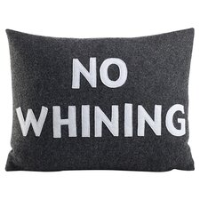 No Whining Lumbar Pillow in Charcoal & White
