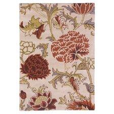 Floral Red & Cream 168 cm x 123 cm Rug