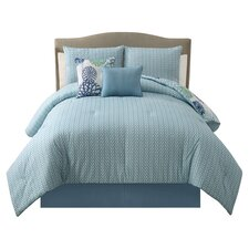 Cameron 5 Piece King Comforter Set in Blue