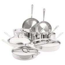 All-Clad 14 Piece Cookware Set in Stainless Steel