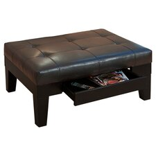 Tale Cocktail Storage Ottoman in Brown