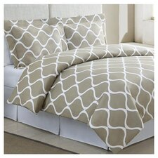 Banff Full/Queen Duvet Cover Set in Light Taupe