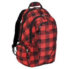 Computer Backpack in Lumber Jack Red